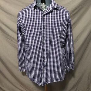 Men's Purple/White Apt 9 Dress Shirt